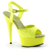 DELIGHT-609UVG Neon Yellow Glitter